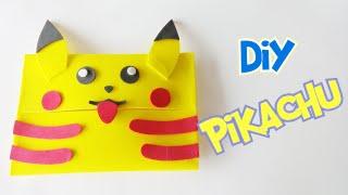 Como fazer um estojo ( porta lenço) Pikachu em Eva