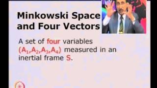 Mod-01 Lec-12 Minikowski Space and Four Vectors