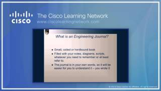 Cisco Press Author Scott Empson presents how to use the Engineering Journal