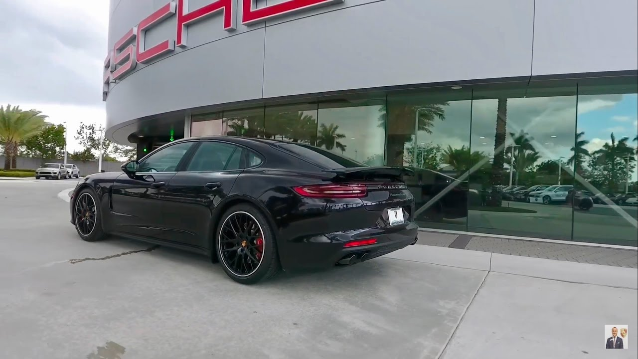 porsche panamera turbo executive черный