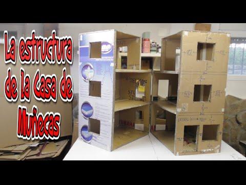 Manualidades Diy Estructura de la Casa de Muecas
