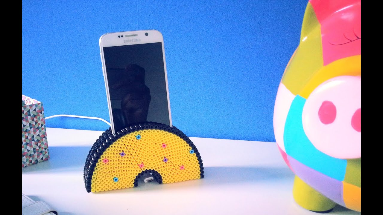 diy support de t l phone portable avec perles repasser hama youtube