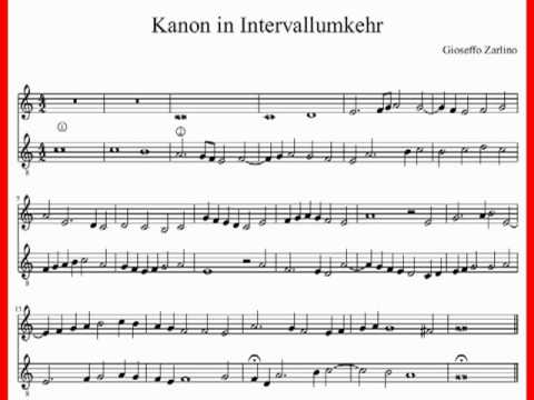 Gioseffo Zarlino: Kanon in Intervallumkehr