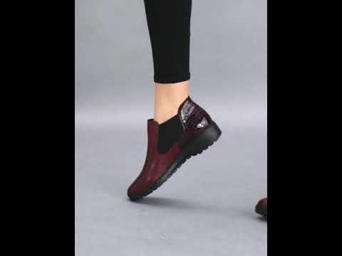 Ankle Boots RIEKER L6090 35 Red Elastic sides High