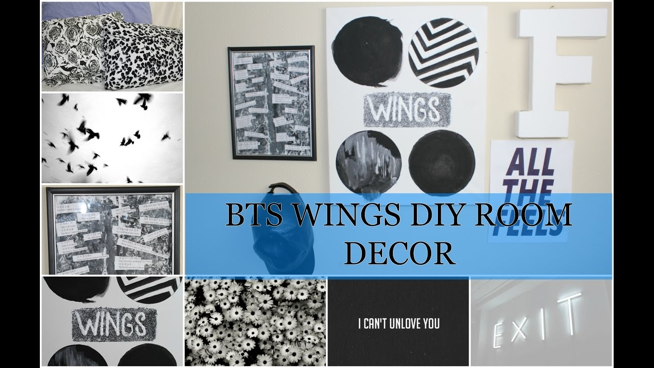 DIY BTS ROOM DECOR (WINGS EDITION) - YouTube on Room Decor Bts id=82138