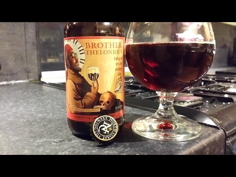 (4K) North Coast Brother Thelonious Belgian Style Abbey Ale | American Craft Beer Review