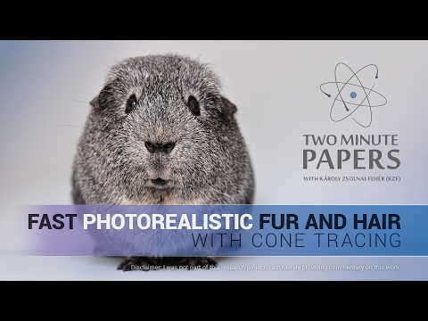 Fast Photorealistic Fur and Hair With Cone Tracing | Two Minute Papers
