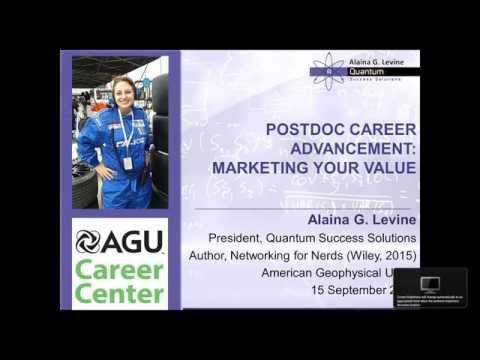 AGU Career Center Presents Postdoc Career Advancement - Marketing Your Value