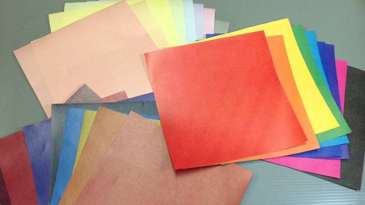 Print Your Own Solid Colors Origami Paper
