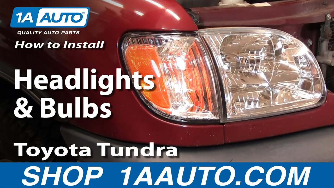 how to replace headlights and bulbs 00 04 toyota tundra [ 1280 x 720 Pixel ]