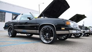 "WhipAddict: 87' Oldsmobile Cutlass Supreme on 24"" AF115 Asantis, LS2 motor, Leather Interior"