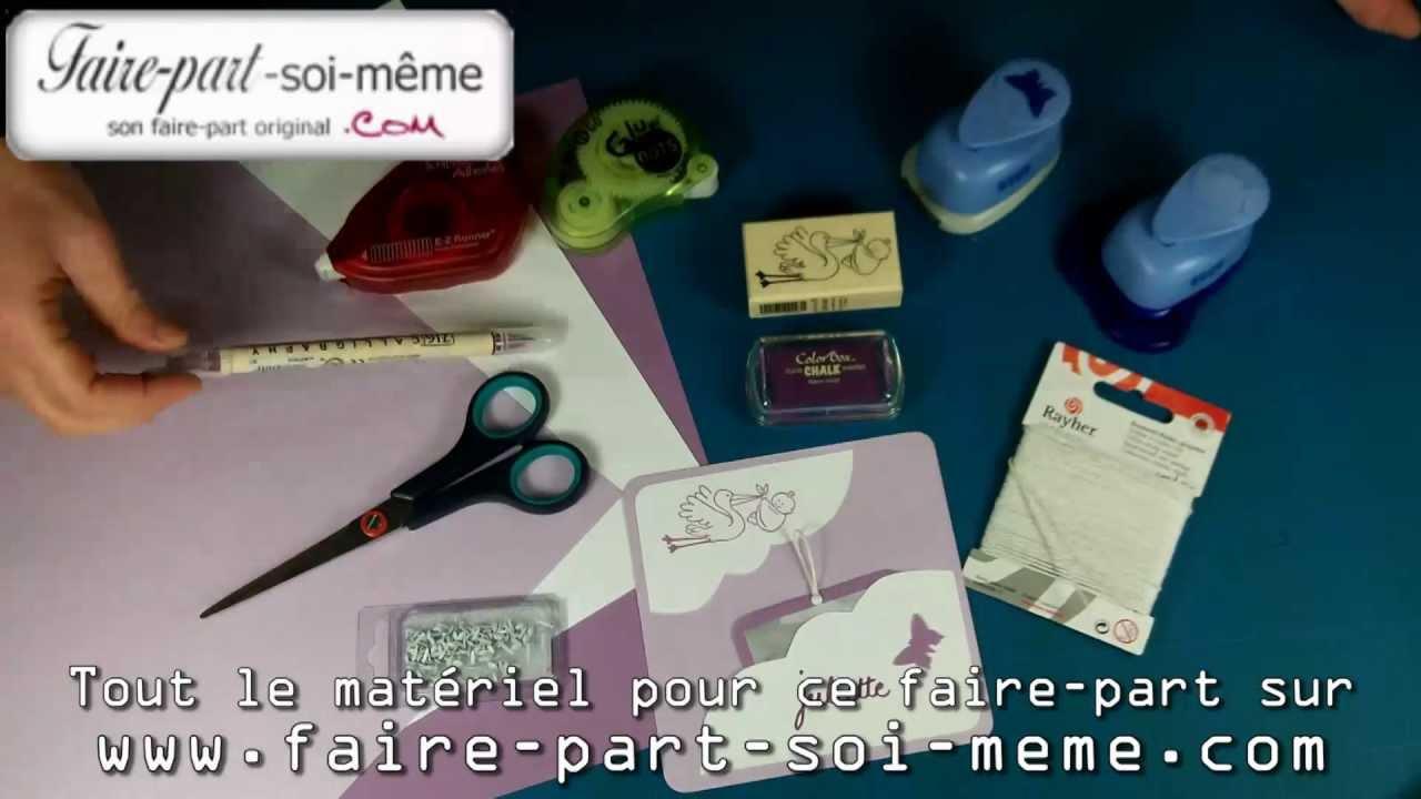 Faire part de naissance faire soi m me juliette youtube - Rond de serviette noel a faire soi meme ...
