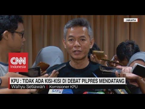 KPU Tidak Ada Kisi-Kisi Di Debat Pilpres Mendatang