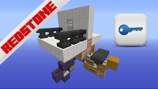 Password | Key- Door Lock | Minecraft 1.7 [Redstone] [HD]