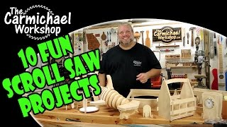 I designed these 10 fun projects to be cut out on the scroll saw and assembled with no glue, screws or nails. Click this link to get my