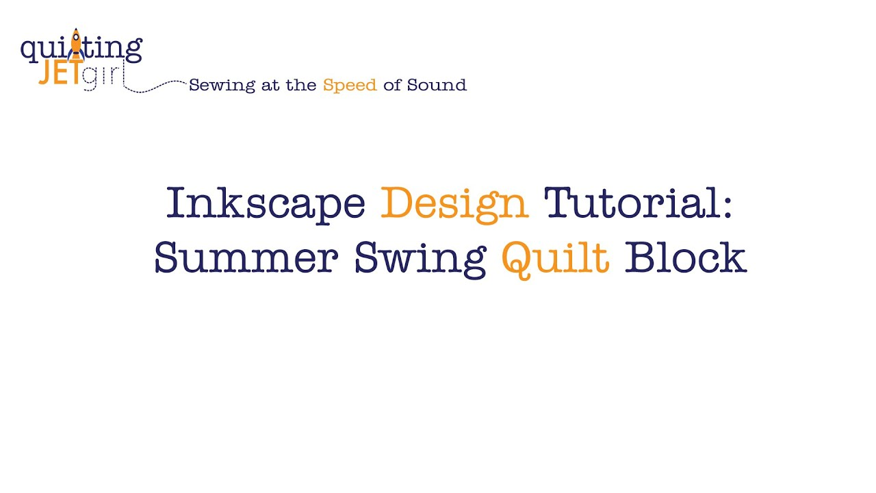 Inkscape Character Design Tutorial : Inkscape design tutorial summer swing quilt block youtube