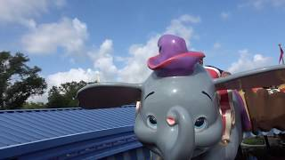 Dumbo the Flying Elephant Full Ride and Line Queue!  Full Experience!!