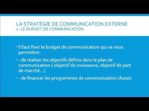 Le Plan Et La Stratégie De Communication Externe D'une Entreprise
