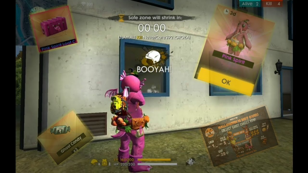 How To Get Pink Spirit Skin In Free Fire Battlegrounds For Free