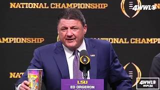 Ed Orgeron: LSU is ready to win more National Championships