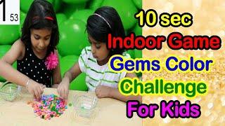 INDOOR GAME 10 SEC GEMS PICKING CHALLENGE/fun indoor activities for KIDS#KIDS#FUN#GAME#MASTI
