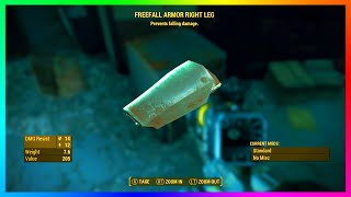 Fallout 4 - LEGENDARY Freefall Armor Location & Guide! - RAREST Armor Pieces In Fallout 4? (FO4)