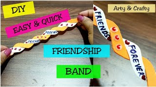 How to Make Friendship Band | DIY Friendship Bracelet | Friendship Band By Arty & Crafty