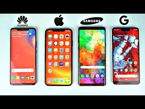 Huawei Mate 20 Pro vs Note 9 vs iPhone XS MAX vs Pixel 3XL - Battery Drain Test!