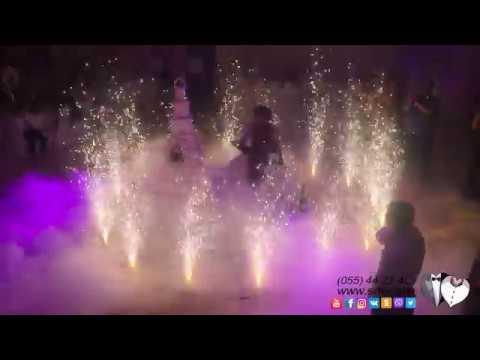 свадебный карусель салют в ресторане  Молорак,  Wedding Firework At Molorak Restaurant