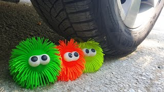 Crushing Crunchy & Soft Things by Car! EXPERIMENT CAR vs SPIKE SLIME TOY