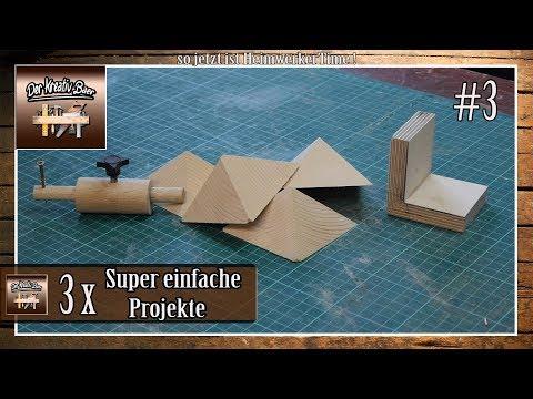 ⚠️ 3 Super Einfache Projekte Aus Holz / 3