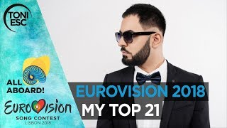 Eurovision 2018: My top 21 [with comments]