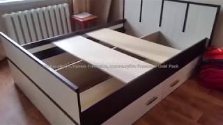 Сборка кровати Сакура с выдвижными ящиками