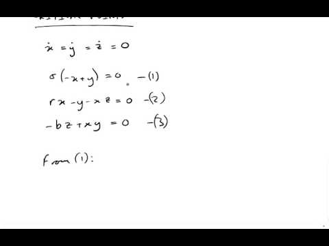 Lorenz Equations via Worked Example