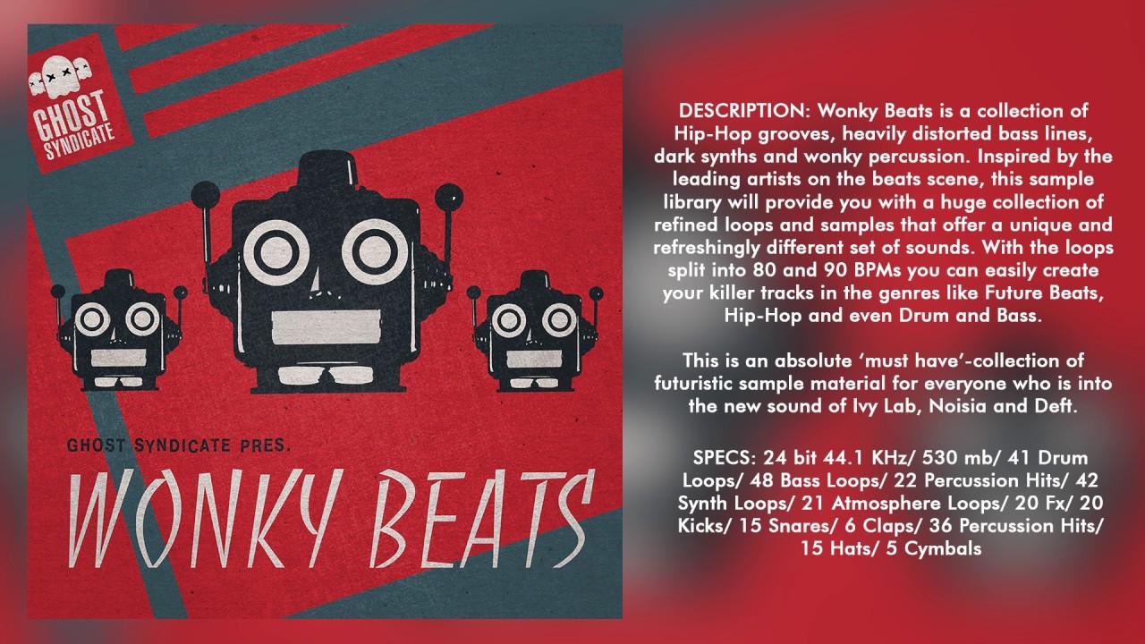 SAMPLE PACK: WONKY BEATS (Royalty Free): Future Beats/Halfstep Drum and  Bass/Hip-Hop