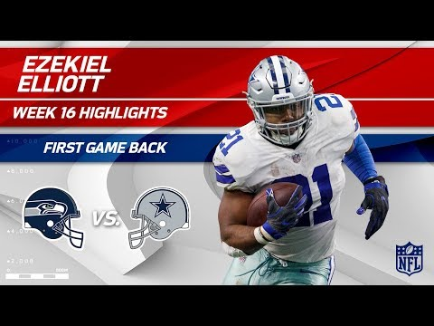 Ezekiel Elliott Highlights from First Game Back! | Seahawks vs. Cowboys | Wk 16 Player Highlights