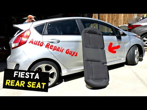 FORD FIESTA REAR SEAT REMOVAL REPLACEMENT MK7 ST