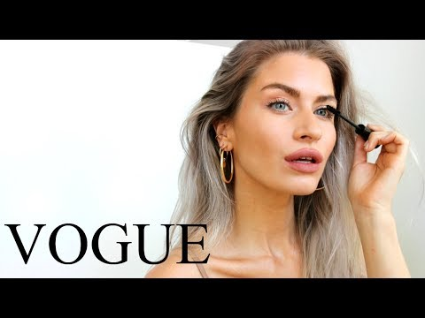 I TRIED FOLLOWING A CANDICE SWANEPOEL VOGUE MAKEUP TUTORIAL  LYSSRYANN