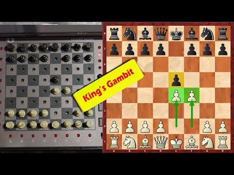 "I Am Playing King's Gambit Against Chess Computer ""SciSys Travel Mate"" 1983"