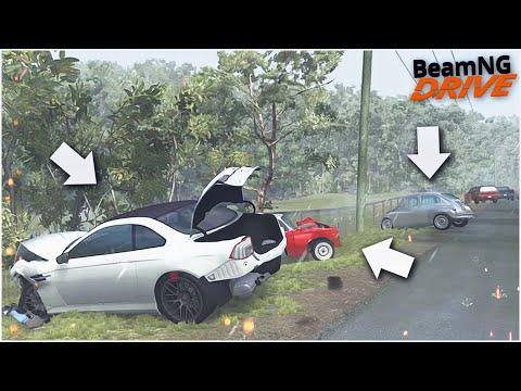 ВЗЯЛ МОЩНУЮ BMW M4 НА ТЕСТ-ДРАЙВ В ДОЖДЬ И РАЗБИЛ ЕЁ! (BEAM NG DRIVE)