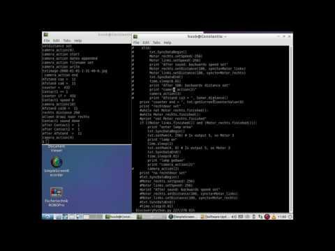fischertechnik TXT controller :  Discovery -  using Python2 7 #50 - Sound, motors, sonar and light