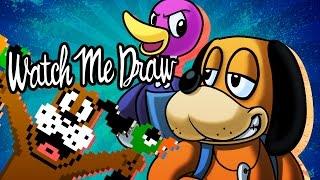 Watch Me Draw: Duck Hunt Duo (Cosplay as Banjo Kazooie) | StevRayBro