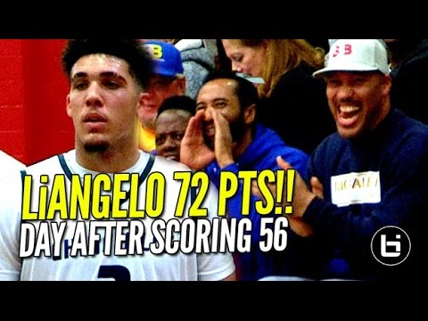 LiAngelo Ball Scores 72 POINTS Day AFTER Scoring 56!! Chino HIlls vs R.Christian FULL Highlights!