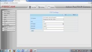 Foscam IP Camera FTP settings