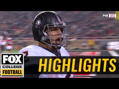 Oklahoma State vs Texas Tech | Highlights | FOX COLLEGE FOOTBALL
