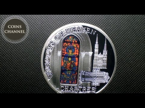 $10 Silver Coin Cook Islands 2013  - Windows of Heaven Chartres