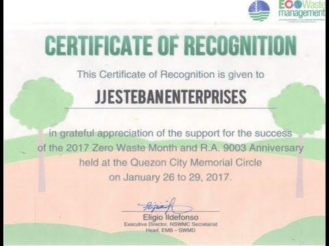 Inventor Jaime J. Esteban's Presentation at DENR (EcoWaste Management)