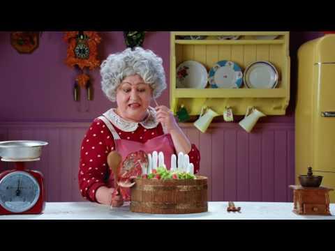 Крабовые палочки Вичи - реклама с бабушкой