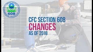 EPA 608 CFC Changes 2018  2019