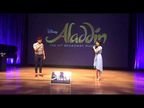 Aladdin Musical Preveiw  A Whole New World